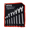COMBINATION WRENCH SET w/ ROLL-UP STORAGE POUCH 6mm-19mm/ 8pcs