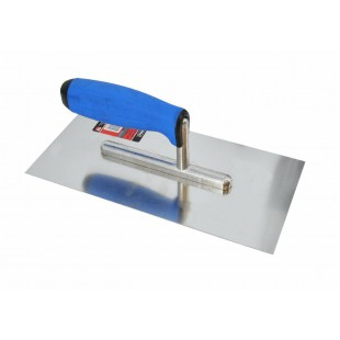PRO STEEL FINISHING TROWEL 270x130mm w/ RUBBER HANDLE