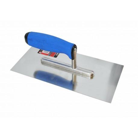 PRO STEEL FINISHING TROWEL 270x130mm w/ RUBBER HANDLE