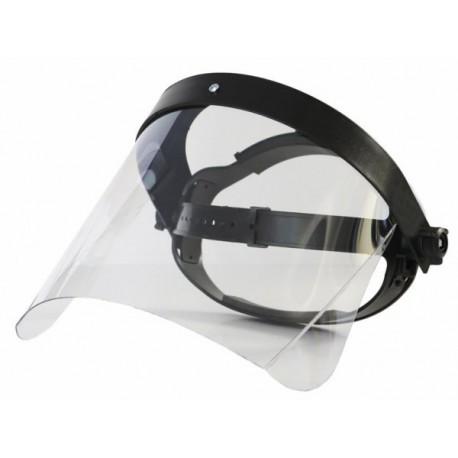 CLEAR FACE SHIELD OT-1 w/ ADJUSTABLE HEADBAND 0.26kg