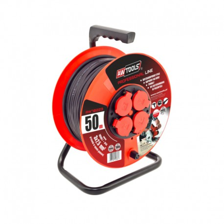 4-SOCKET CABLE REEL PROFESSIONAL 50m 3x2.5mm