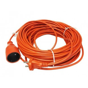 GARDEN EXTENSION LEAD ORANGE 20m 2x1.0mm 10A/ 2500W