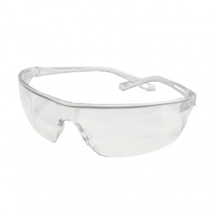 FRAMELESS ANTI-SCRATCH SAFETY GLASSES w/ FLEXIBLE ARMS & CLEAR LENS