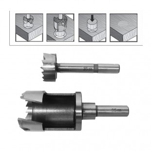 FORSTNER DRILL BIT & PLUG CUTTER SET 40mm/ FOR WOODWORKING