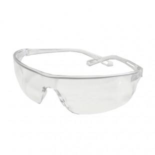 FRAMELESS ANTI-SCRATCH SAFETY GLASSES w/ FLEXIBLE ARMS & DARK LENS