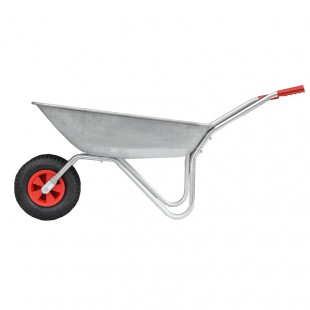 GARDEN WHEELBARROW 65L 100kg ON PNEUMATIC WHEEL