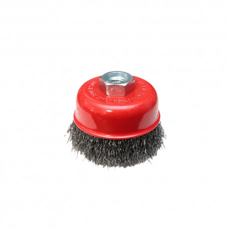 CUP WIRE BRUSH 65mm M14 CRIMPED