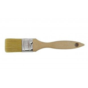 ENGLISH TYPE FLAT PAINT BRUSH 36mm w/ RAW WOODEN HANDLE