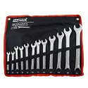 COMBINATION WRENCH SET 8-24mm 12pcs IN ROLL-UP POUCH