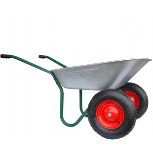 GARDEN WHEELBARROW 100L 130kg ON PNEUMATIC WHEEL