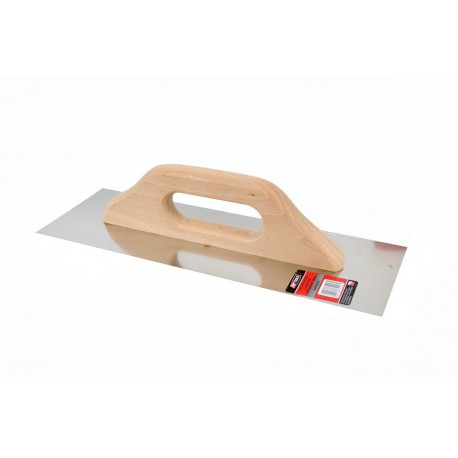 FINISHING STEEL TROWEL 680x130mm w/ WOODEN HANDLE