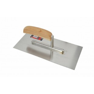 FINISHING STEEL TROWEL 270x130mm w/ WOODEN HANDLE