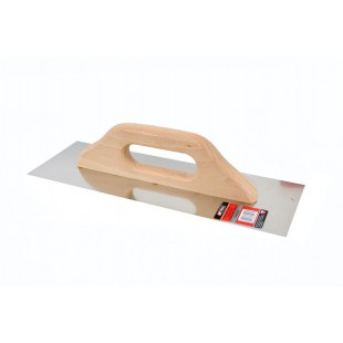 FINISHING STEEL TROWEL 580x130mm w/ WOODEN HANDLE
