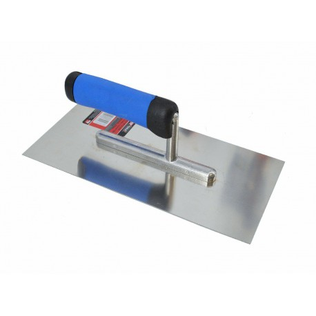 FINISHING STEEL TROWEL 270x130mm w/ RUBBER HANDLE