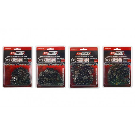 """CHAINSAW CHAIN REPLACEMENT 16"""" 40cm 3/8"""" 1.3mm 64-DRIVE LINKS"""
