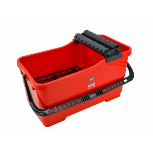 20L RECTANGULAR GROUTING BUCKET /w DOUBLE ROLLERS & GRID