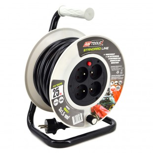 4-SOCKET EXTENSION CABLE REEL STANDARD 25m 3x1.5 16A/ 3680W