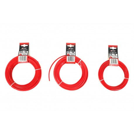 SQUARE TRIMMER LINE RED CLASSIC 2.0mm x15m