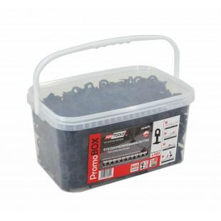 SYSTEM POZIOMOWANIA PŁYTEK PROMO BOX 1,0mm - 7-15mm/ KLIPS/ 900szt.