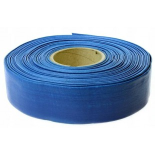 """BLUE PVC LAY FLAT WATER DISCHARGE HOSE 2""""x100m 23.10kg"""